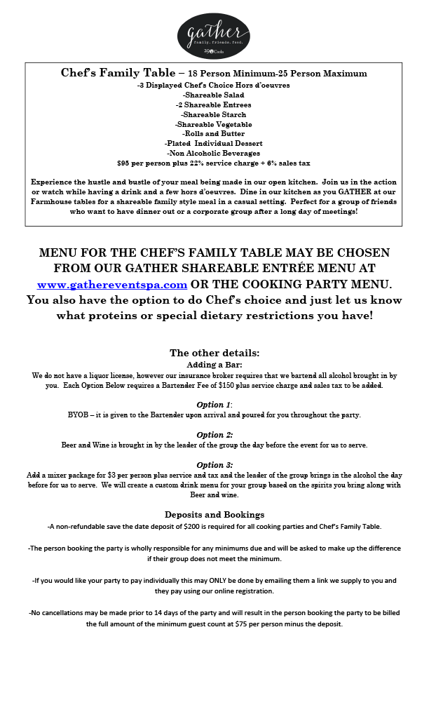 Adult Cooking Parties 2